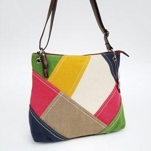 👜 RELIC Multi Color Canvas Bag Purse NEW